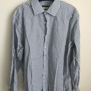 Black and Tan Checked Button Down